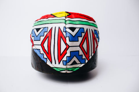 Orange Ndebele Mask by Tribe Afrique - 3 Ply Only