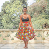 Ogya High Waist Skirt by Tribe Afrique (With Pockets)