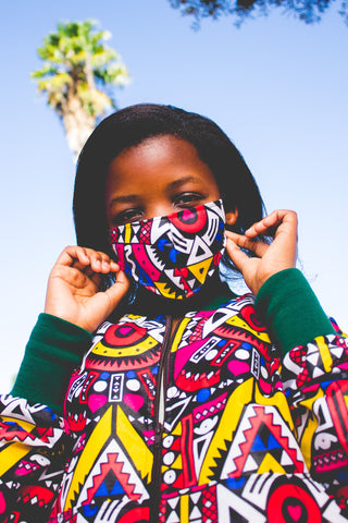 Kai African Bomber Jackets with Mask