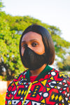 Plain Black Face Mask -with strings that tie around head, No elastic (Adults) (3-Ply Only)