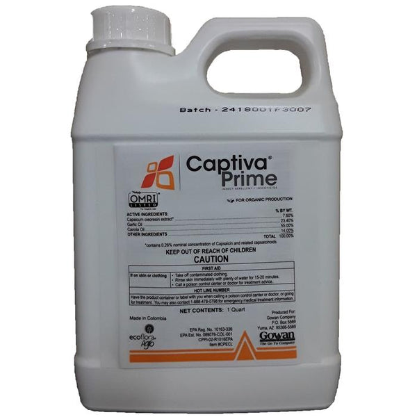 Captiva Prime | Capsicum Oleoresin extract, Garlic Oil, Canola Oil