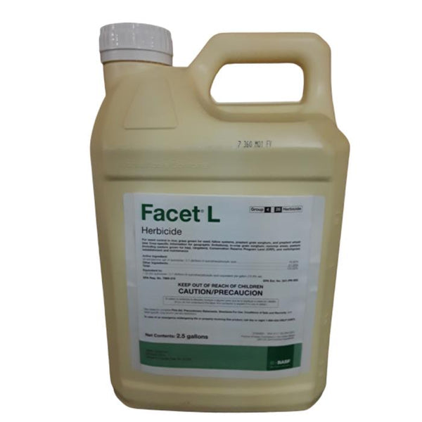 Facet L Herbicide | Quinclorac | 2.5 Gallon Size