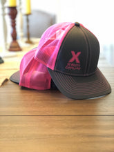Load image into Gallery viewer, Sparky's Offroad Charcoal & Pink Trucker Hat