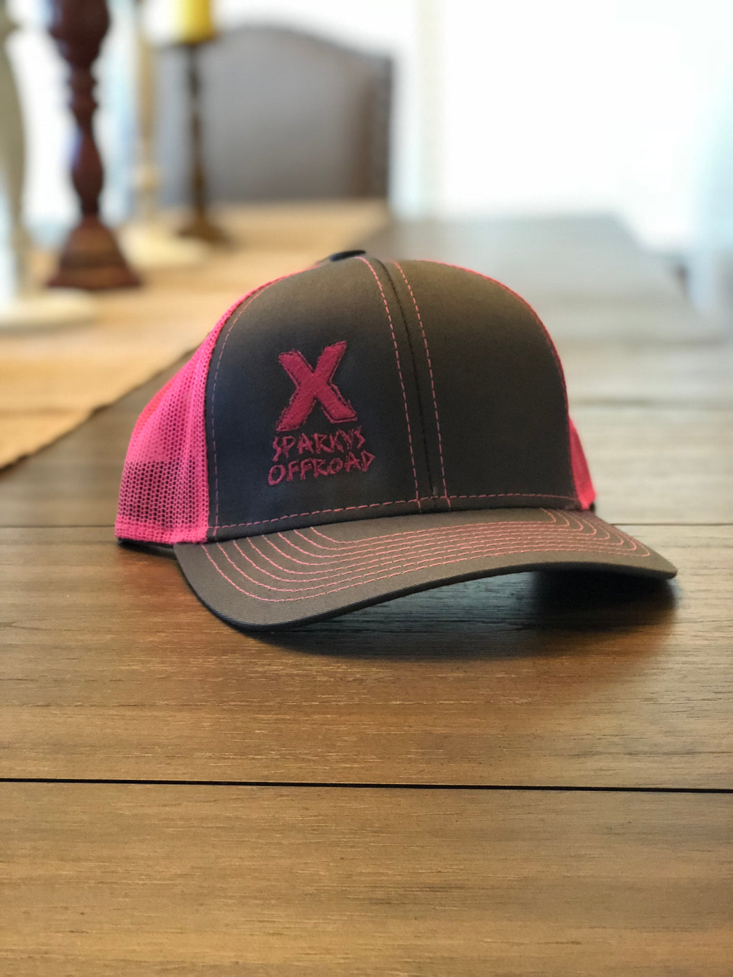Sparky's Offroad Charcoal & Pink Trucker Hat