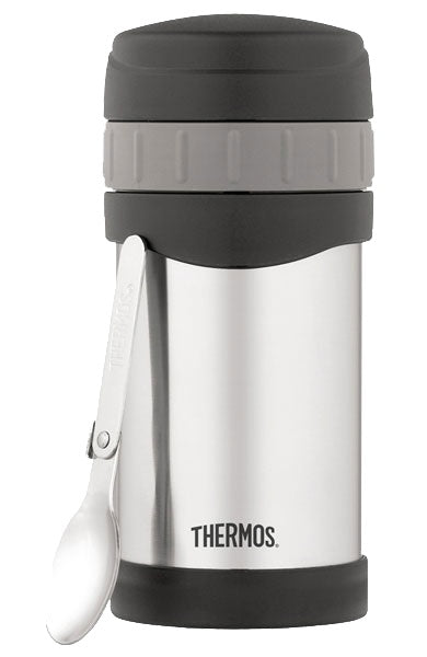 Thermos 470ml Stainless Steel Vacuum Insulated Food Jar with fold up spoon