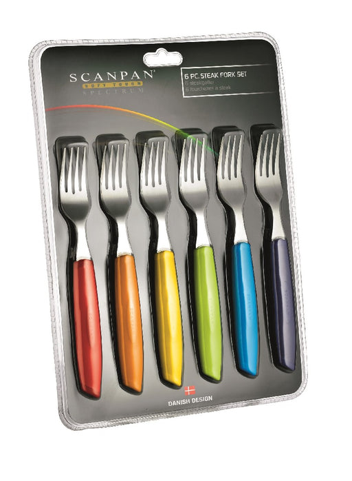 Scanpan Spectrum Fork Set of 6 - Coloured