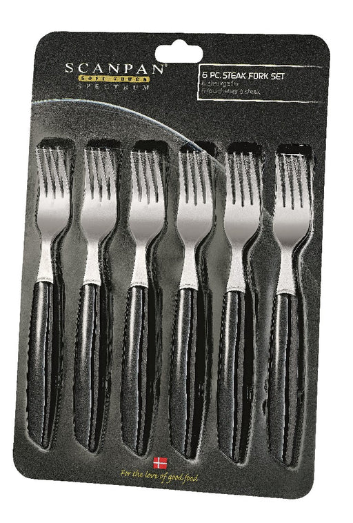 Scanpan Spectrum Forks set of 6 - Black
