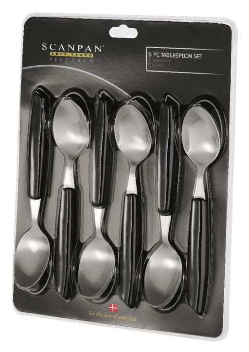 Scanpan Spectrum Spoons set of 6 - Black