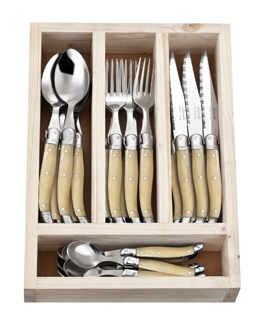 La Guiole Cutlery Set 24pc - Light Horn