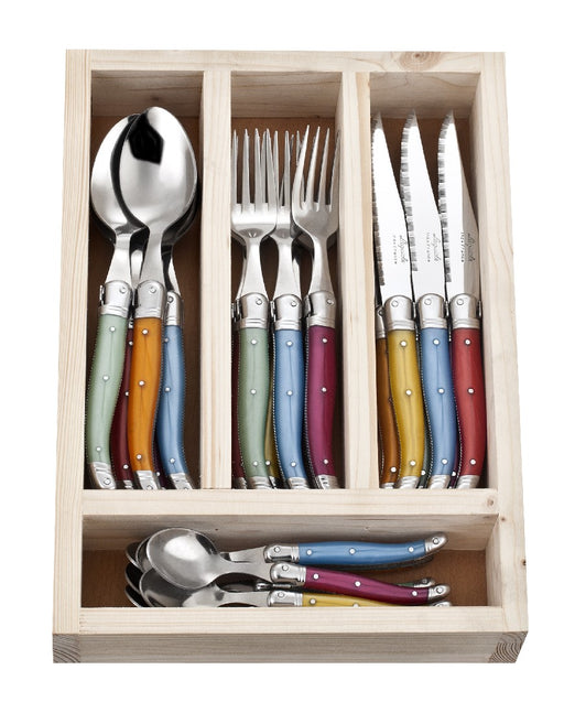 La Guiole Cutlery Set 24pc - Mixed Colours