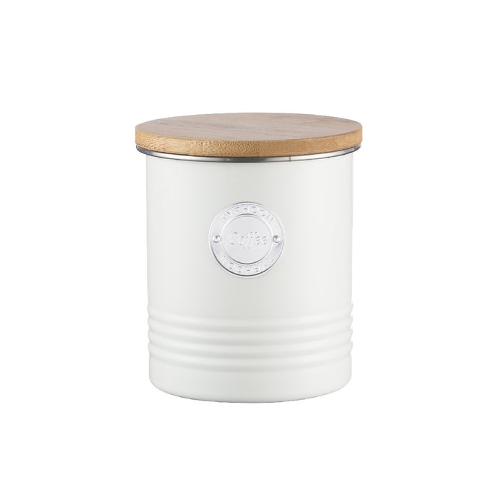 Typhoon Living Coffee Canister 1lt - Cream