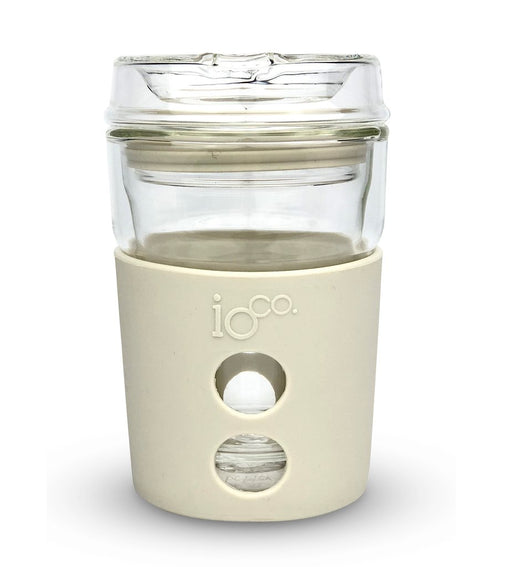 Ioco Glass Travel Mug 8oz - Cream