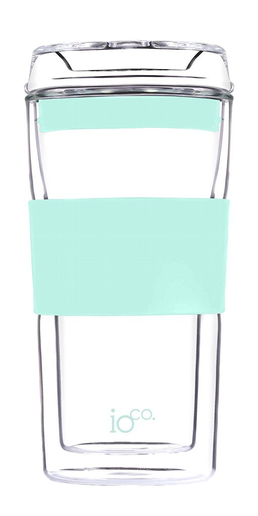 Ioco Glass Travel Mug 12oz - Mint