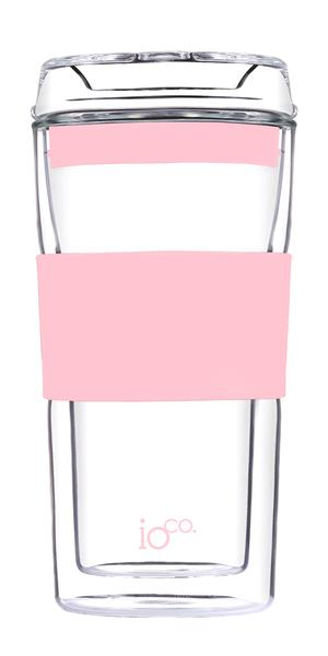 Ioco Glass Travel Mug 12oz - Pink