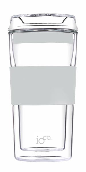 Ioco Glass Travel Mug 12oz - Cream