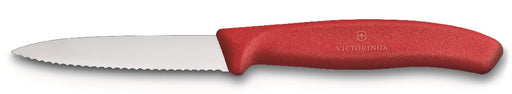 Victorinox Paring Knife 8cm Serrated - Red