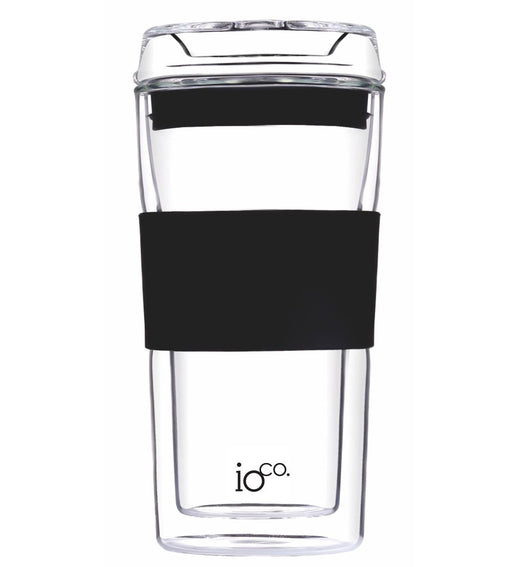 Ioco Glass Travel Mug 12oz - Black