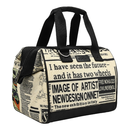 Sachi Insulated Lunch Bag - News Print