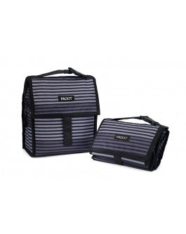 Packit Freezable Lunch Bag - Grey Stripe