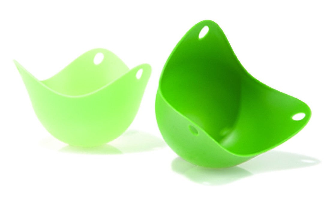 Poach Pods (set of 2) - Green/Translucent