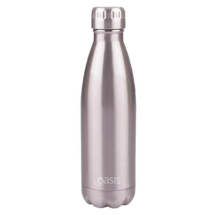 Oasis S/S Insulated Drink Bottle 500ml - Silver