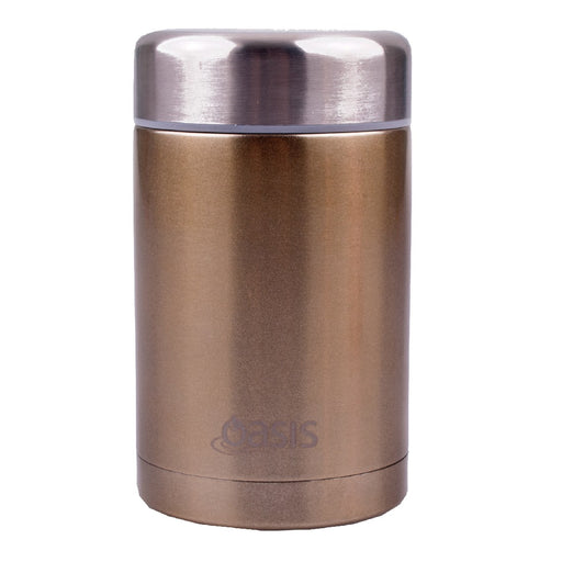 Oasis S/S Insulated Food Flask 450ml - Champagne
