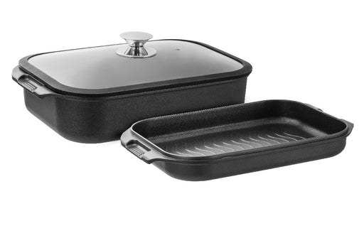 Pyrolux Hard Anodised Double Roaster & Grill 2pc