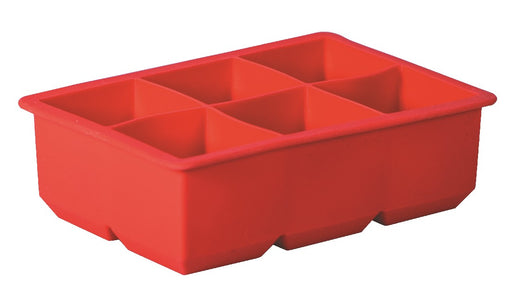 Avanti Silicone 6 Cup Ice Cube Tray - Red