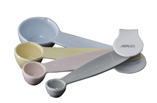Avanti Ribbed Measuring Spoons - Pastel