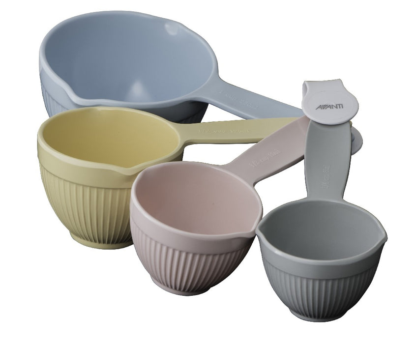 Avanti Ribbed Measuring Cups - Pastel