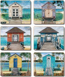 Cinnamon 'Boathouse' Coasters Set of 6