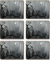 Cinnamon 'Hoot' Coasters set of 6