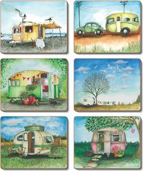 Cinnamon 'Vintage Caravans' Placemats Set of 6