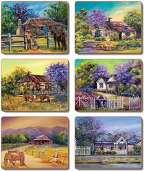 Cinnamon 'Jacaranda House' Coasters set of 6