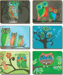 Cinnamon 'Owls' Placemats set of 6