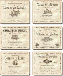 Cinnamon 'Wine Labels' Coasters set of 6