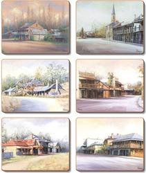 Cinnamon 'Country Towns' Coasters set of 6