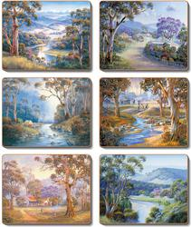 Cinnamon 'Bradleys Stream' Placemats Set of 6