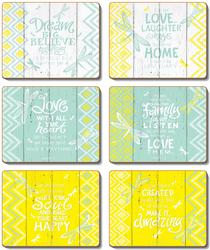 Cinnamon 'Hello Yellow' Coasters Set of 6