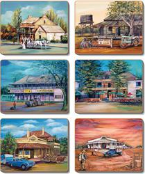 Cinnamon 'Old Hotels' Coaster Set of 6