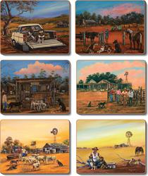 Cinnamon 'Kelpie Kapers' Placemats Set of 6