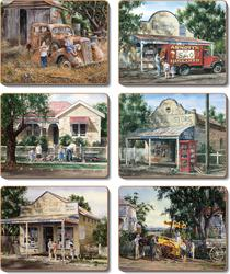 Cinnamon 'Times Now Past' Coasters Set of 6