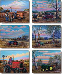 Cinnamon 'Tractors' Coasters Set of 6