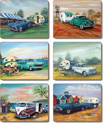 Cinnamon 'Classics & Caravans' Coasters Set of 6