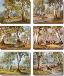 Cinnamon 'Redgum Country' Coasters Set of 6