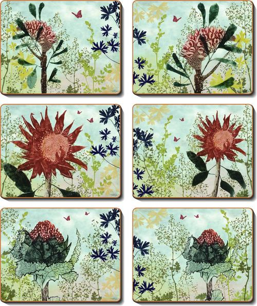Cinnamon 'Florish' Placemats Set of 6