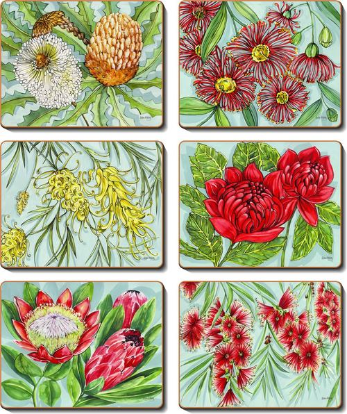 Cinnamon 'Bush Blooms' Placemats Set of 6