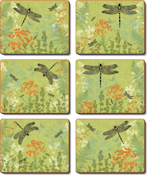 Cinnamon 'Dragonfly Delight' Placemats Set of 6