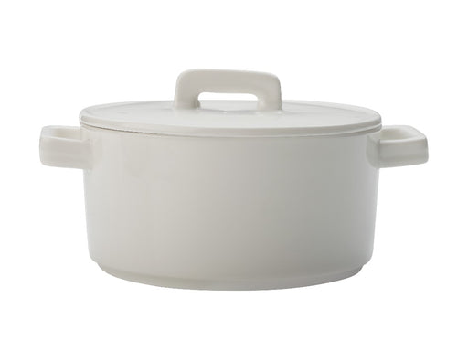 MW Epicurious Round Casserole 500ML White Gift Boxed