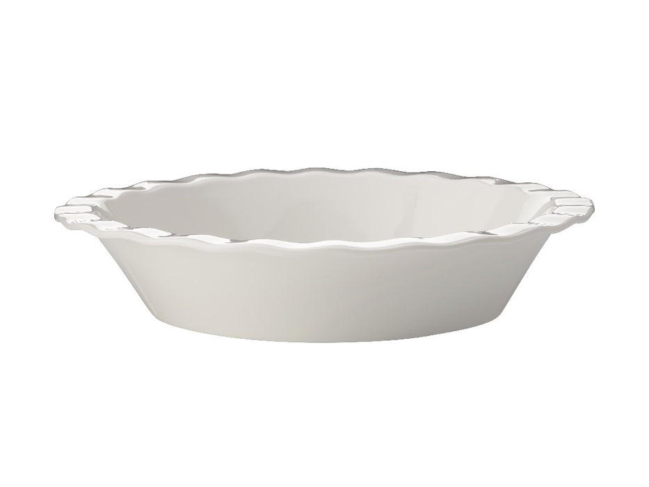 MW Epicurious Fluted Pie Dish 25x5cm White Gift Boxed